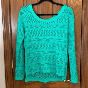 Seafoam Green Lace Sweater